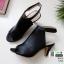 รองเท้าส้นสูงหน้าเต็ม งานสไตล์ปราด้า รัดข้อ 1202-ดำ [สีดำ] thumbnail 3
