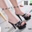 รองเท้าส้นสูงสวมสไตล์แบรนด์ดัง 17-2314-BLK [สีดำ] thumbnail 1