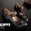 รองเท้าคัชชู หนังแกะงานหนังแท้ 100% 9212-82-ดำ [สีดำ] thumbnail 2