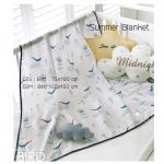 ผ้าห่มซัมเมอร์ ลาย 02.นก Bird ขนาด S.75x100
