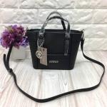กระเป๋าแบรนด์ Guess รุ่น SAFFIANO MINI CROSS BODY BAG สีดำ