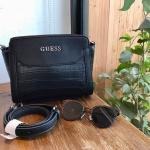 กระเป๋าแบรนด์ Guess รุ่น CROC SHOULDER BAG สีดำ