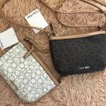 กระเป๋าแบรนด์ Calvin Klein รุ่น Crossbody bag มี 2 สี น้ำตาลเข้ม, ขาวครีม