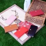กระเป๋าสตางค์หนังแท้แบรนด์ KEEP รุ่น Fasia zipper มี 5 สี ดำ, แดง Berry red, แดง Red Lip, ชมพู Rose, น้ำตาล Tan