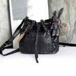 กระเป๋าแบรนด์ David Jones รุ่น Bucket Leather bag สีดำ