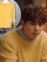 เสื้อแขนยาวสีเหลืองเกาหลี คิมมินกยู ผ้าหนานุ่มใส่สบาย