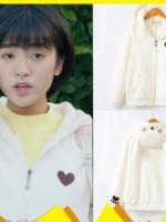 เสื้อฮู้ดแจ็คเก็ต เฉินเสี่ยวซี ลายหัวใจ แต่งฮู้ดน่ารัก มี2สี