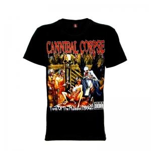 เสื้อยืด วง Cannibal Corpse แขนสั้น แขนยาว S M L XL XXL [2]