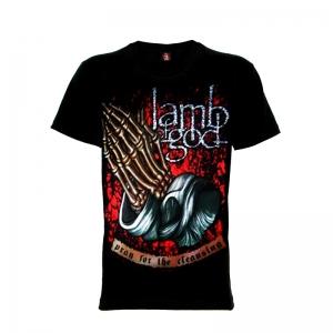 เสื้อยืด วง Lamb of God แขนสั้น แขนยาว S M L XL XXL [1]