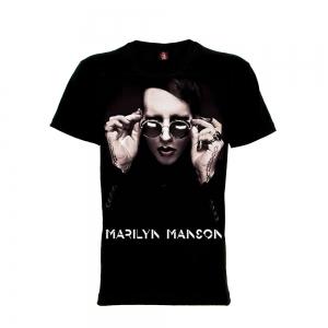 เสื้อยืด วง Marilyn Manson แขนสั้น แขนยาว สั่งได้ทุกขนาด S-XXL [Rock Yeah]