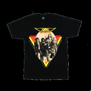 เสื้อยืด วง Aerosmith แขนสั้น งาน Vintage ลายไม่ชัด ทุกขนาด S-XXL [Easyriders]