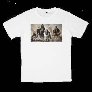 เสื้อยืด วง Lamb of God สีขาว แขนสั้น S M L XL XXL [3]