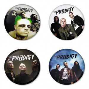 ของที่ระลึกวง The Prodigy เลือกด้านหลังได้ 4 แบบ เข็มกลัด, แม่เหล็ก, กระจกพกพา หรือ พวงกุญแจที่เปิดขวด 1 แพ็ค 4 ชิ้น [4]