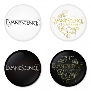 ของที่ระลึกวง Evanescence เลือกด้านหลังได้ 4 แบบ เข็มกลัด, แม่เหล็ก, กระจกพกพา หรือ พวงกุญแจที่เปิดขวด 1 แพ็ค 4 ชิ้น [10]