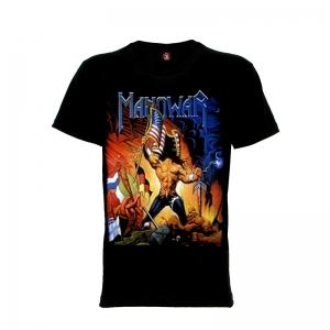 เสื้อยืด วง Manowar แขนสั้น แขนยาว S M L XL XXL [2]