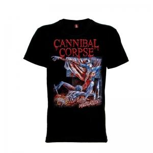 เสื้อยืด วง Cannibal Corpse แขนสั้น แขนยาว S M L XL XXL [6]
