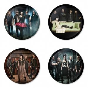ของที่ระลึกวง Evanescence เลือกด้านหลังได้ 4 แบบ เข็มกลัด, แม่เหล็ก, กระจกพกพา หรือ พวงกุญแจที่เปิดขวด 1 แพ็ค 4 ชิ้น [7]