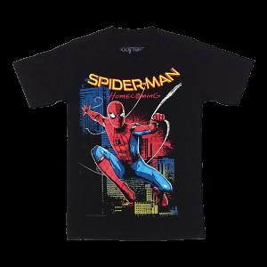 เสื้อยืด วง Spiderman แขนสั้น สกรีนเฉพาะด้านหน้า สั่งได้ทุกขนาด S-XXL [MARVEL]