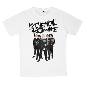 เสื้อยืด วง My Chemical Romance สีขาว แขนสั้น S M L XL XXL [2]