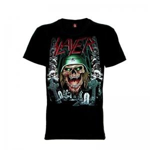 เสื้อยืด วง Slayer แขนสั้น แขนยาว S M L XL XXL [5]