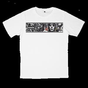 เสื้อยืด วง Oasis สีขาว แขนสั้น S M L XL XXL [5]