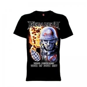 เสื้อยืด วง Megadeth แขนสั้น แขนยาว S M L XL XXL [4]
