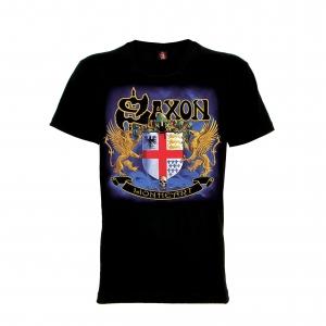 เสื้อยืด วง Saxon แขนสั้น แขนยาว สั่งได้ทุกขนาด S-XXL [Rock Yeah]