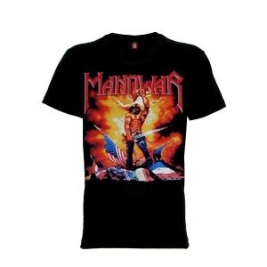 เสื้อยืด วง Manowar แขนสั้น แขนยาว S M L XL XXL [1]