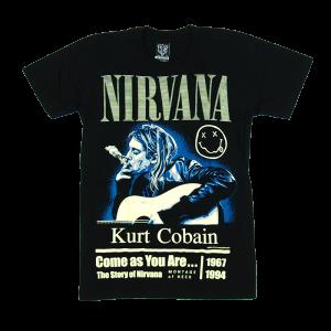 เสื้อยืด วง Nirvana แขนสั้น แขนยาว S M L XL XXL [2]