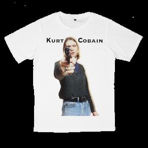 เสื้อยืด วง Nirvana สีขาว แขนสั้น S M L XL XXL [3]