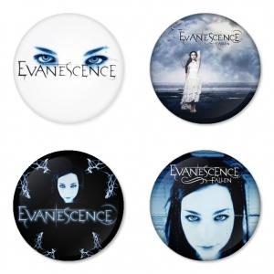 ของที่ระลึกวง Evanescence เลือกด้านหลังได้ 4 แบบ เข็มกลัด, แม่เหล็ก, กระจกพกพา หรือ พวงกุญแจที่เปิดขวด 1 แพ็ค 4 ชิ้น [1]