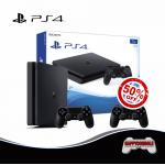 PS4 Slim 1TB DualShock 4 50%Off