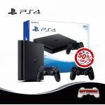 PS4 Slim 500GB DualShock 4 50%Off