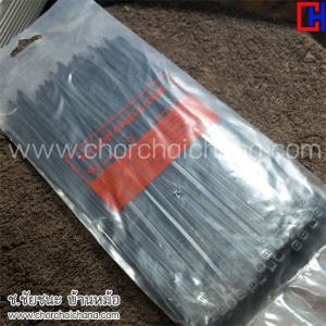 สายรัด เข็มขัด Cable Tie ยาว 8 นิ้ว สีดำ แบบแพ็ค 100 เส้น