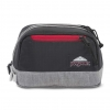 JanSport กระเป๋าเป้ รุ่น Dopp kit LD - Black Poly Ripstop/Grey Marl