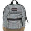 JanSport กระเป๋าเป้ รุ่น Right Pouch - Black/White Suited Plaid