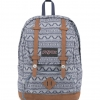 JanSport กระเป๋าเป้ รุ่น BAUGHMAN - Blue Chambray Cardigan Canvas