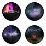 ของที่ระลึกวง Evanescence เลือกด้านหลังได้ 4 แบบ เข็มกลัด, แม่เหล็ก, กระจกพกพา หรือ พวงกุญแจที่เปิดขวด 1 แพ็ค 4 ชิ้น [8]