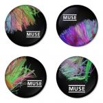 ของที่ระลึกวง Muse เลือกด้านหลังได้ 4 แบบ เข็มกลัด, แม่เหล็ก, กระจกพกพา หรือ พวงกุญแจที่เปิดขวด 1 แพ็ค 4 ชิ้น [14]
