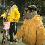 เสื้อแจ็คเก็ตแขนยาวสีเหลือง เฉินเสี่ยวซี แนวพองๆ