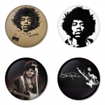 ของที่ระลึกวง Jimi Hendrix เลือกด้านหลังได้ 4 แบบ เข็มกลัด, แม่เหล็ก, กระจกพกพา หรือ พวงกุญแจที่เปิดขวด 1 แพ็ค 4 ชิ้น [1]