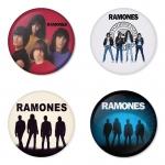 ของที่ระลึกวง Ramones เลือกด้านหลังได้ 4 แบบ เข็มกลัด, แม่เหล็ก, กระจกพกพา หรือ พวงกุญแจที่เปิดขวด 1 แพ็ค 4 ชิ้น [9]