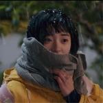 ผ้าพันคอสีเทา เฉินเสี่ยวซี สไตล์เกาหลี