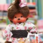 ตุ๊กตาลิงมอนจิจิชุดยูกาตะ ไซส์ S (20cm Yukata Dressed Monchhichi Girl)