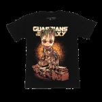 เสื้อยืด วง Guardians of the Galaxy แขนสั้น สกรีนเฉพาะด้านหน้า สั่งได้ทุกขนาด S-XXL [MARVEL]