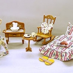 Dolls with Furniture Set