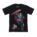 เสื้อยืด วง Captain America แขนสั้น สกรีนเฉพาะด้านหน้า สั่งได้ทุกขนาด S-XXL [MARVEL]