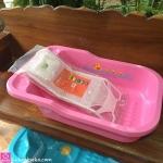 ที่รองอาบน้ำเด็ก ยี่ห้อ Nuebabe สีชมพูอ่อน