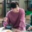 ชุดเซทสีม่วง Lee Jong Suk เสื้อแขนยาว+กางเกงขายาว
