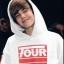 เสื้อฮู้ดแจ็คเก็ต Justin Bieber พิมพ์ลายทั้งตัว มี2สี
